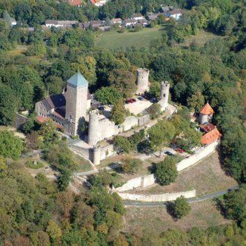 Luftansicht Starkenburg Heppenheim