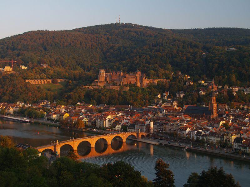 Abendlicht bei Heidelberg