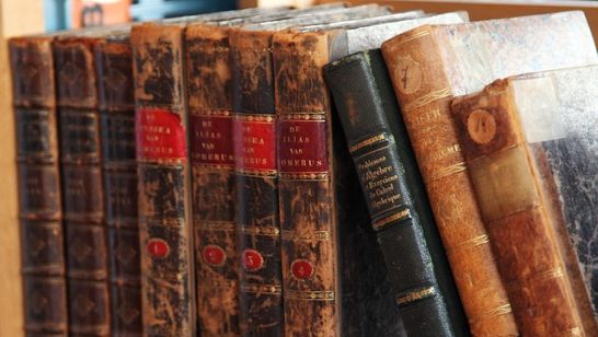 Alte Buchrücken