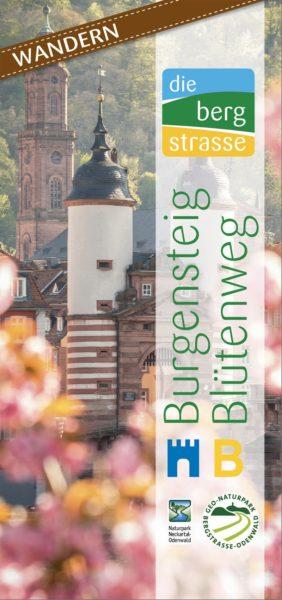 Titelbild der Broschüre Burgensteig und Blütenweg Bergstraße